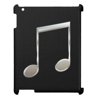 Shiny Silver Music Notation Beamed Whole Notes iPad Case