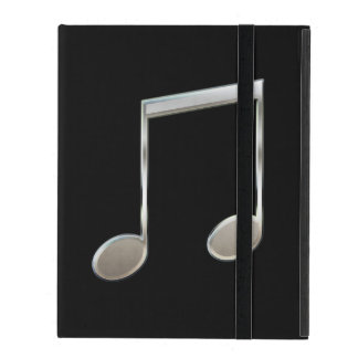 Shiny Silver Music Notation Beamed Whole Notes iPad Cases