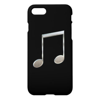 Shiny Silver Music Notation Beamed Whole Notes iPhone 8/7 Case
