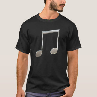 Shiny Silver Music Notation Beamed Whole Notes T-Shirt