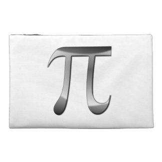 Shiny Silver Pi Symbol Travel Accessories Bag