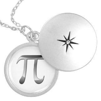 Shiny Silver Pi Symbol Pendants