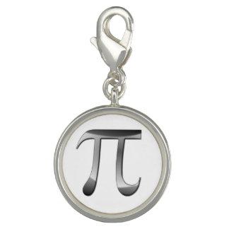 Shiny Silver Pi Symbol Photo Charms