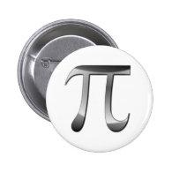 Shiny Silver Pi Symbol Pins