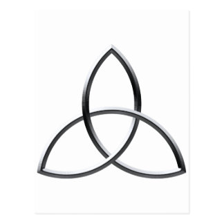 Shiny Silver Triquetra Post Card