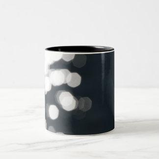 Shiny Sparkles Background Two-Tone Coffee Mug