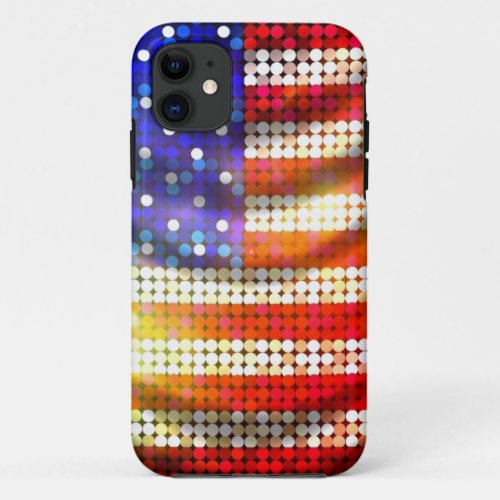 Shiny Sparkling Beaded Sequin American Flag Case Phone Case