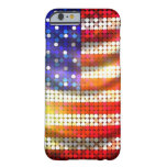 Shiny Sparkling Beaded Sequin American Flag Case Barely There iPhone 6 Case