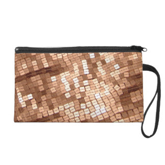 Shiny Sparkly Copper Colored Sequins Wristlet