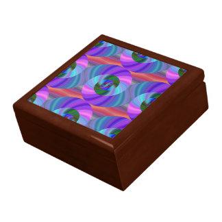 Shiny spiral pattern keepsake box