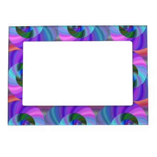 Shiny spiral pattern magnetic photo frame