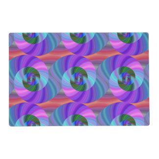 Shiny spiral pattern placemat