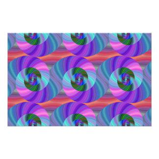 Shiny spiral pattern stationery