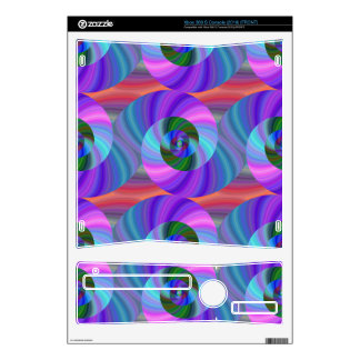 Shiny spiral pattern xbox 360 s console decal