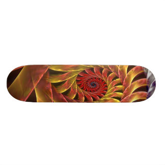 Shiny spiral skate board deck