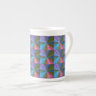Shiny Square Porcelain Mugs