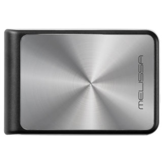 Shiny Stainless Steel Metallic Texture Print Power Bank