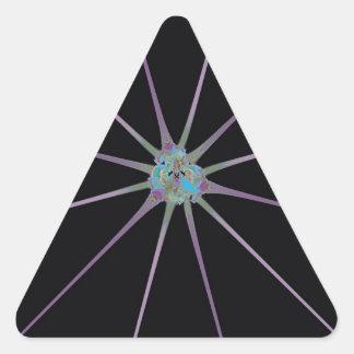Shiny Star Triangle Sticker