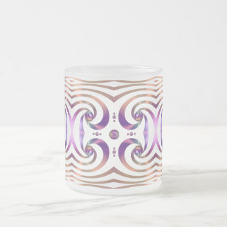 Shiny Swirl Ribbon Orbs Abstract Design 10 Oz Frosted Glass Coffee Mug
