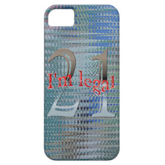 Shiny Textured I'm Legal Age 21 Years Old iPhone SE/5/5s Case