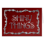 Shiny Things Christmas card