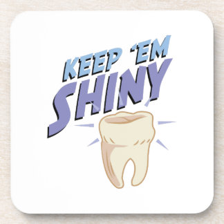 Shiny Tooth Beverage Coasters