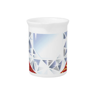 Shiny Vector Diamond Royal Background Beverage Pitcher