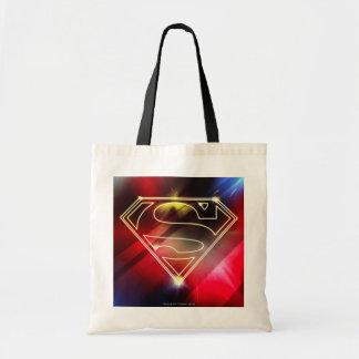 Shiny Yellow Outline Superman Logo Bag