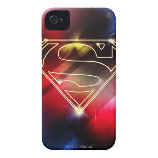 Shiny Yellow Outline Superman Logo iPhone 4 Case