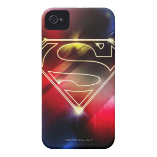 Shiny Yellow Outline Superman Logo iPhone 4 Cases