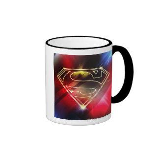 Shiny Yellow Outline Superman Logo Coffee Mug