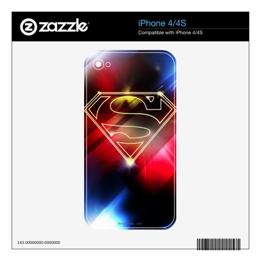 Shiny Yellow Outline Superman Logo Decal For The iPhone 4