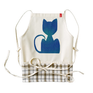 ShinyBlue Cat Silhouette Custom Aprons