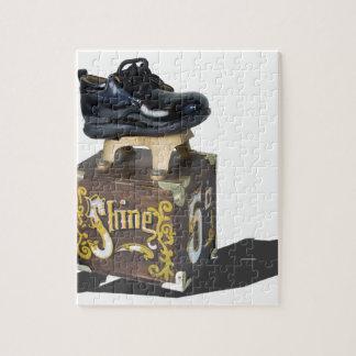 ShinyShoesOnShoeShineBox052215 Jigsaw Puzzle