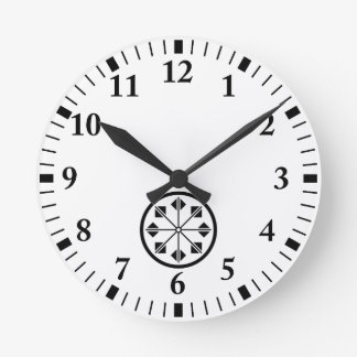 Shionada pinwheel round clock