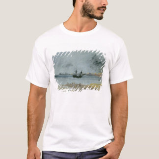 Ship Aground, Brighton, 1830 (black ink, w/c & bod T-Shirt