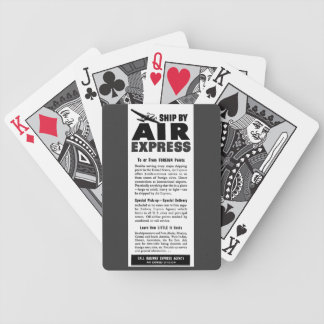 Ship Air Express Via Railway Express Agency Bicycle Playing Cards