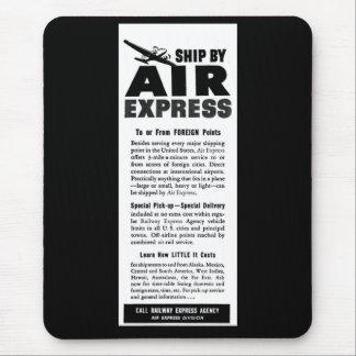 Ship Air Express Via Railway Express Agency Mouse Pad