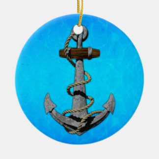 Ship Anchor Ceramic Ornament