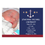 Ship Anchor New Baby Announcement Invite