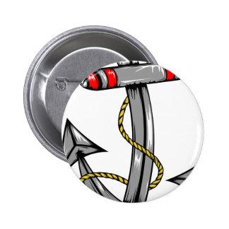 Ship Anchor Tattoo Pinback Buttons