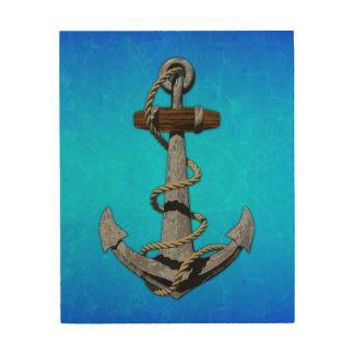 Anchor Wall Art ship anchor wood wall art | zazzle