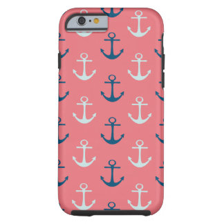 Ship Anchors on Rose Tough iPhone 6 Case