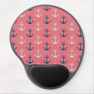 Ship Anchors on Rose Gel Mousepad