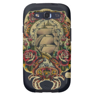 Ship and Crab Samsung Galaxy SIII Case