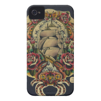 ship and crabs iPhone 4 cases