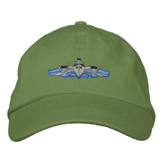 Ship and Sabers Embroidered Baseball Cap