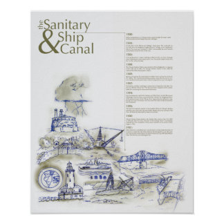 Ship and Sanitary Canal Poster