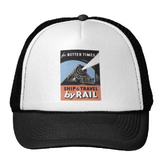 ship and travel by rail trucker hat