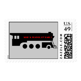 Ship and Travel By Railroad Train Postage